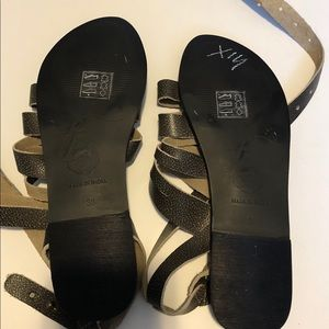 Free People Shoes - Free People Sunever Sandal in Washed Black